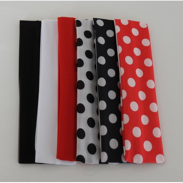 Hårbånd - Polka Dot eller Ensfarvet