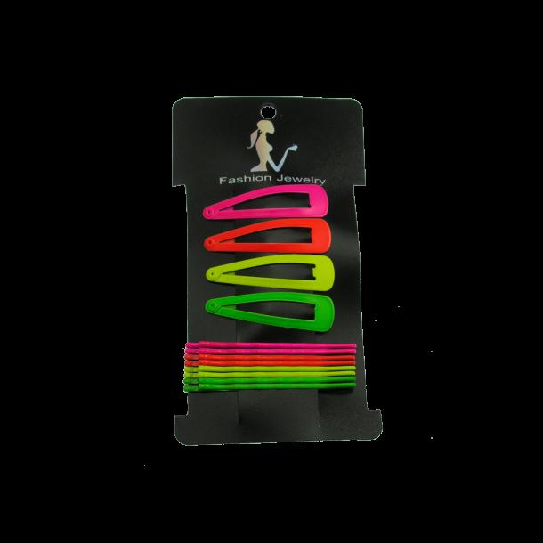 Hårnåle & Spænder - neon farver