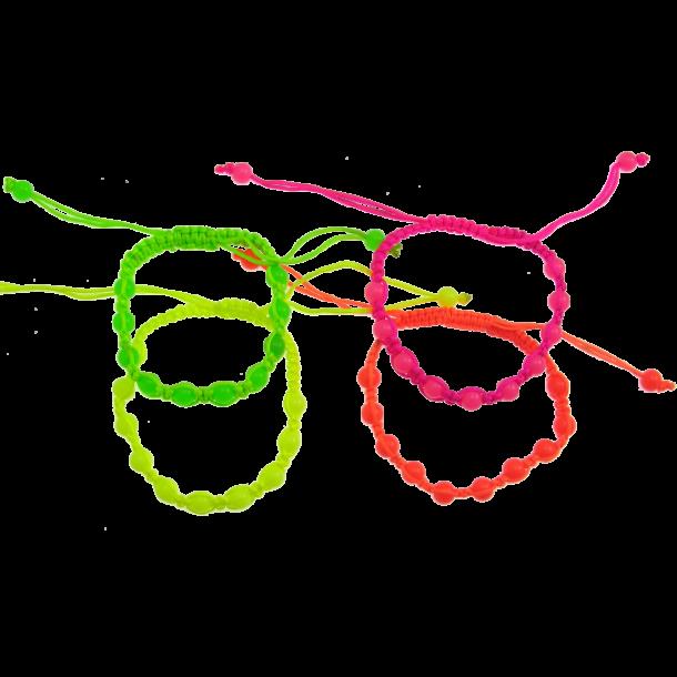 Knyttet Armbånd - Neon farver