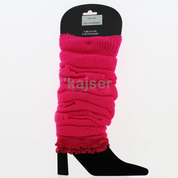 Strikkede Benvarmere - Lange - Pink