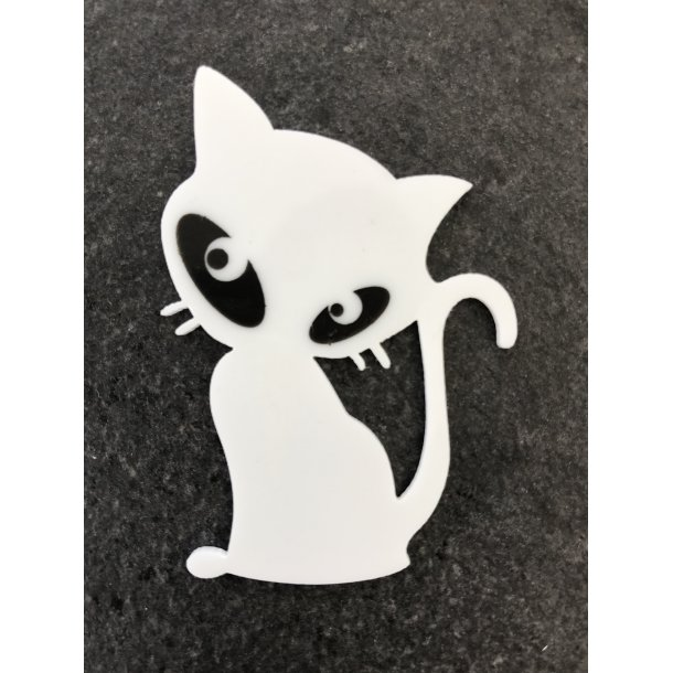 Katte Broche (sort eller hvid)