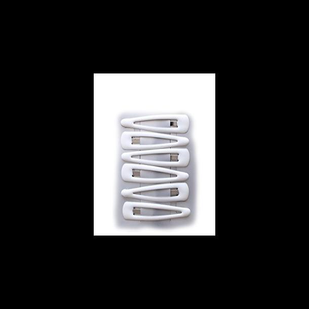 Hvide Hårspænder - 6 stk.